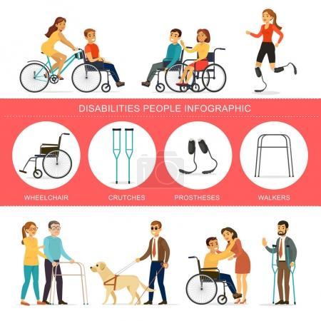 Infografisches Konzept für Behinderungen