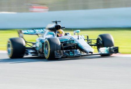 LEWIS HAMILTON MERCEDES F1 TEST