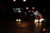 Abstract bokeh night street lights