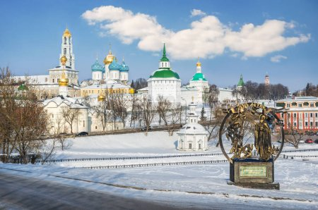 Classic view of the Lavra in Sergiev Posad