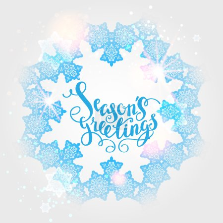 Season's greetings lettering card