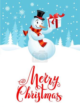 Snowman holiday cartoons