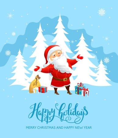 Santa Claus holiday card