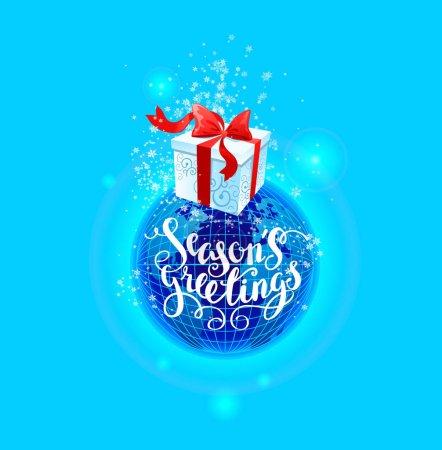 Gift box greetings card