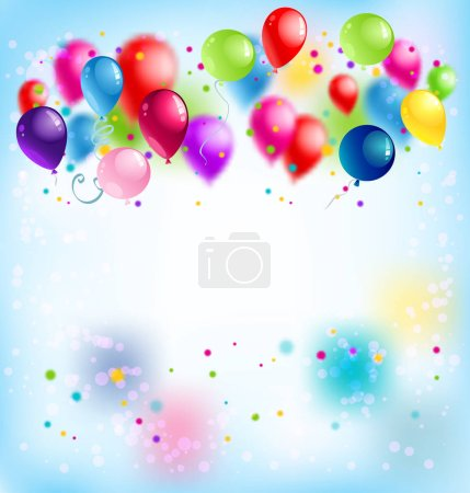Bright colorful abstract background with air baloo...