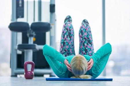 Kettlebell training in modern gym