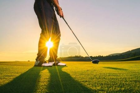Photo for Man Playing Golf in summer - Royalty Free Image