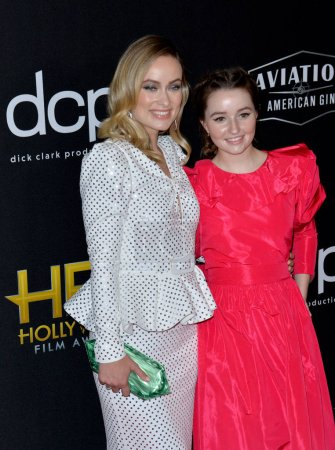 Photo for LOS ANGELES, USA. November 04, 2019: Olivia Wilde & Kaitlyn Dever at the 23rd Annual Hollywood Film Awards at the Beverly Hilton Hotel - Royalty Free Image