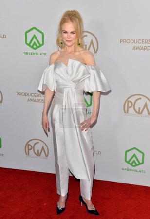 Foto de SANTA MONICA, EE.UU. 18 de enero de 2020: Nicole Kidman en los Premios del Gremio de Productores 2020 en el Hollywood Palladium - Imagen libre de derechos