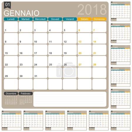 Italian Calendar 2018