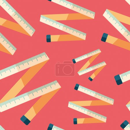 Tape measure flat icon seamless pattern.