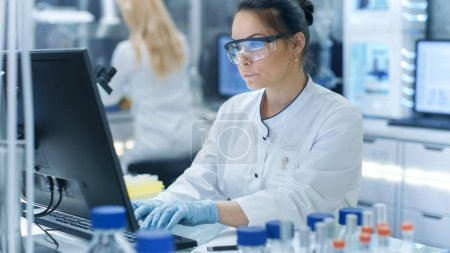 Medical Research Scientist Typing Information Obtained from New