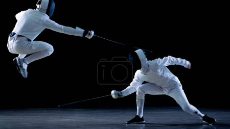 Two Professional Fencers Show Masterful