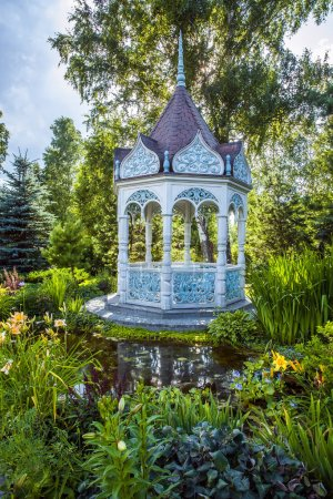 Summer garden with alcove