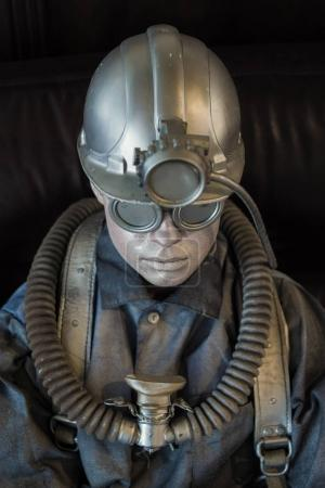 mannequin on miner equipment