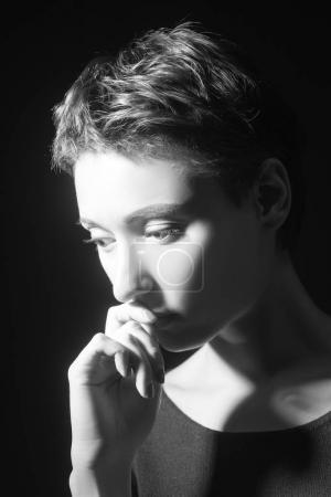 beautiful pensive woman
