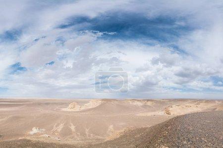 beautiful sunlit white desert