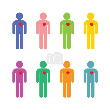 set of men in different colors