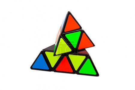 Simple abstract colorful pyramid triangular logica...