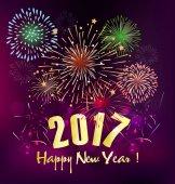 Šťastný nový rok 2017 Holiday pozadí