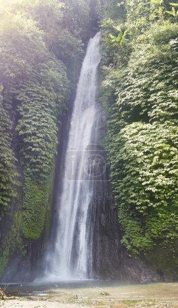 Panorama waterfall forest Bali Indonesia