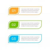 Steps elements for web interface Infograph vector element Infographic abstract template