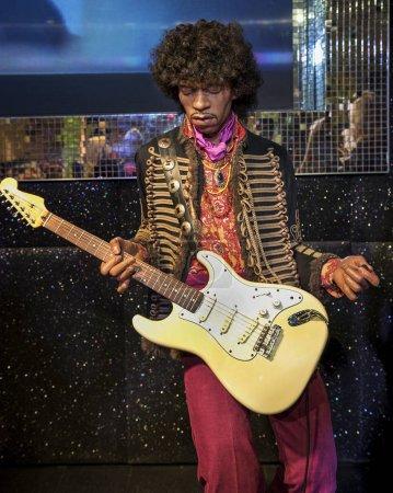 Jimi Hendrix wax fugure