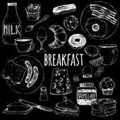 Doodle set food for breakfast