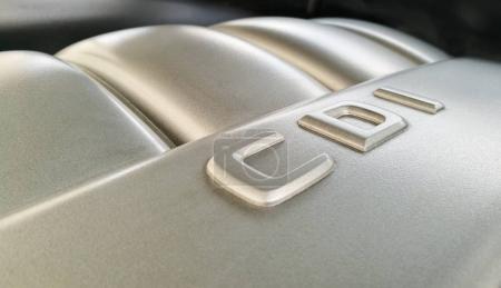 CDI diesel engine close up illustrative editorial photo.