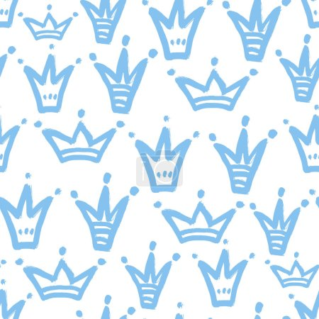 Pattern with hand drawn crowns.