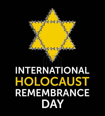 International Holocaust Remembrance Day vector pos...