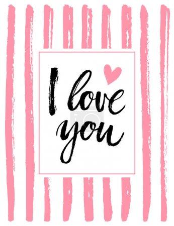 Hand written I love you