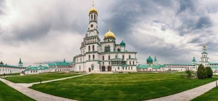 Moscow region. Istra. Panorama. Resurrection New Jerusalem Monastery. Cathedral of the Resurrection of Christ and the Church of Constantine and Helena.