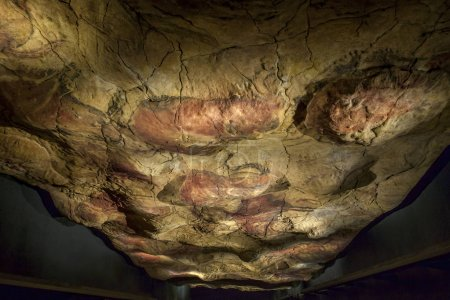 Altamira replica cave at National Archeological Museum, Madrid,