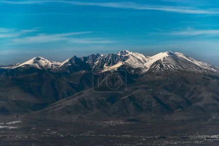 Photo for View on mountains with snow on top. - Royalty Free Image