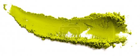 Photo for Pile of green matcha tea powder on white background - Royalty Free Image