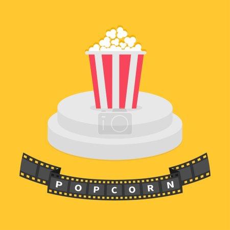 film strip and popcorn