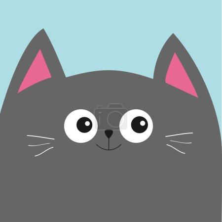 Illustration for Vector illustration of Cute cartoon character Gray cat - Royalty Free Image