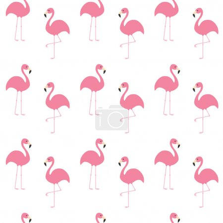Pattern with Exotic flamingos
