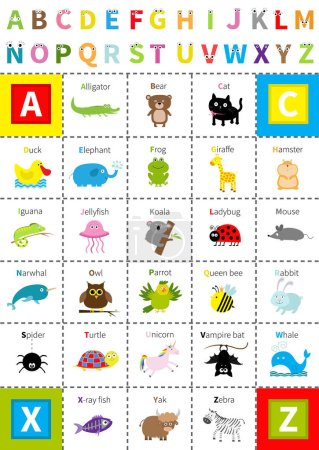 Animal zoo alphabet