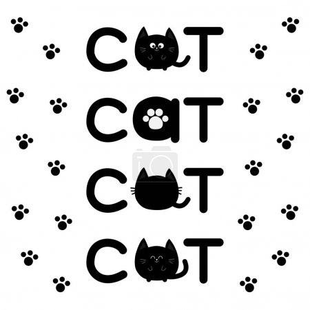 cute text cat collection