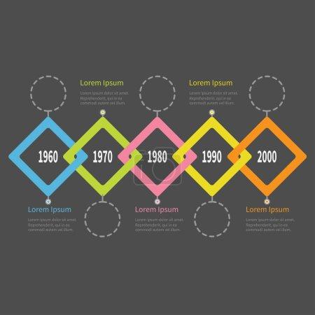 Five steps Timeline Infographic