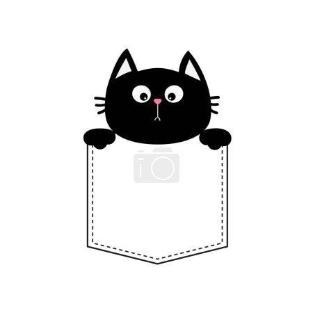 Black cat in pocket