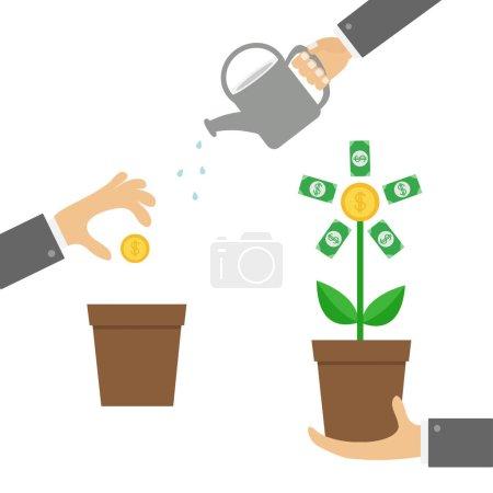 hands holding money tree