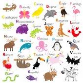 Zoo animals alphabet