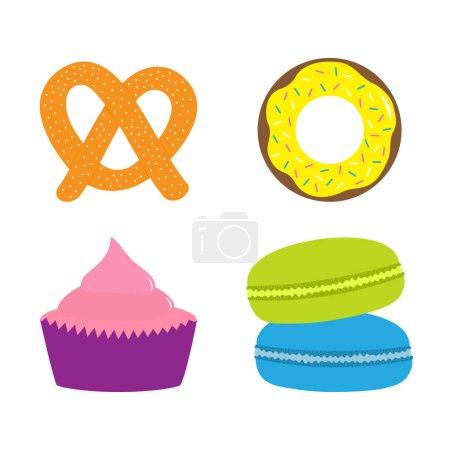 Sweet bakery pastry set