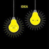 Idea light bulbs icon set
