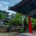 Pagoda in main courtyard at Shaolin Monastery. A b...