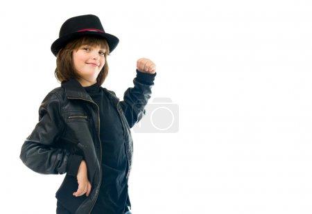 strong teenage rocker boy