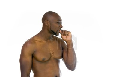 african american man biting nails